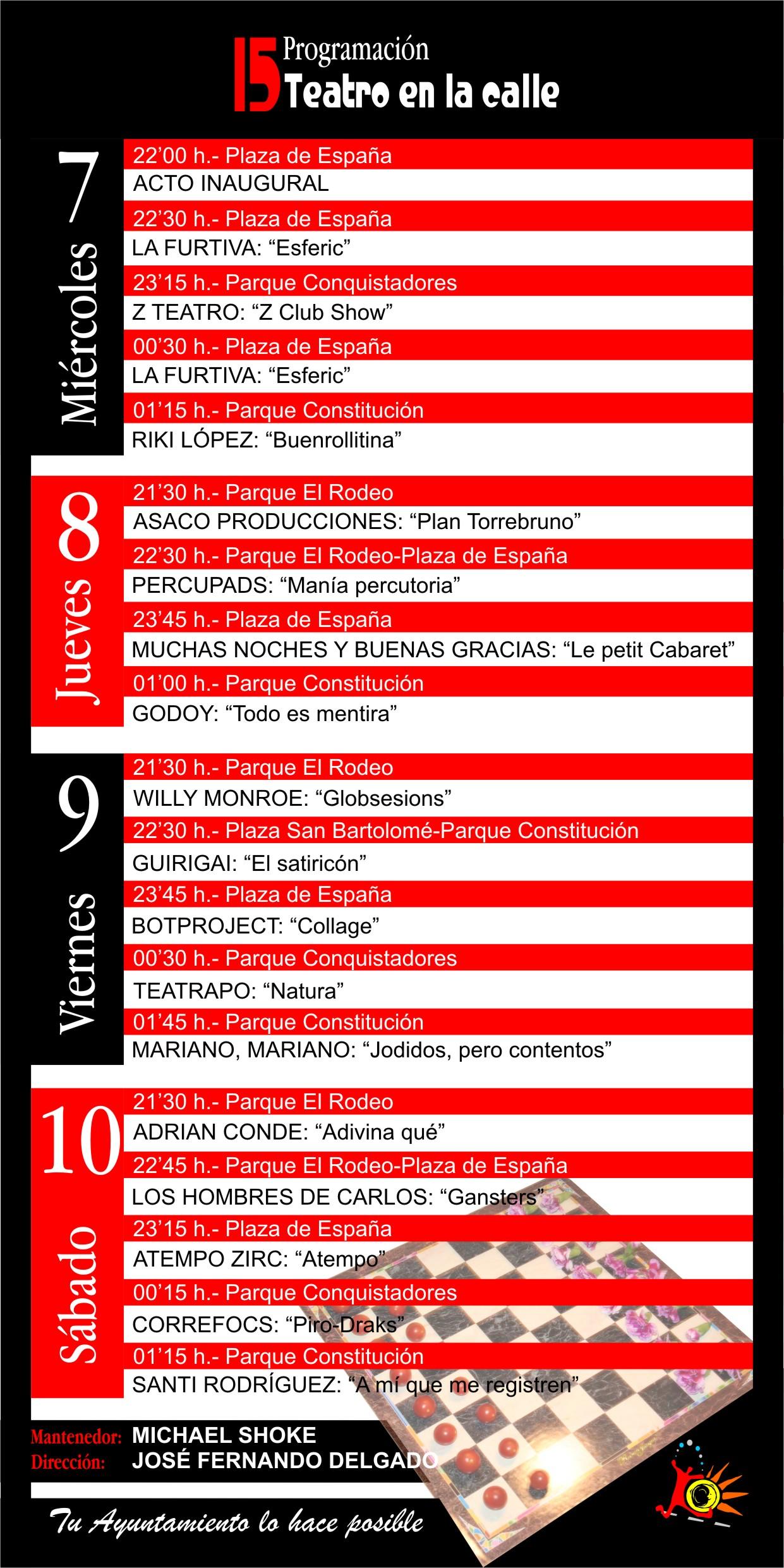 15º FEST. TEATRO DE CALLE - VILLANUEVA DE LA SERENA