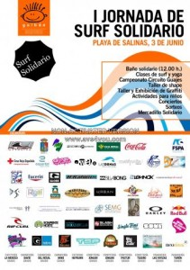 Cartel I Jornada de Surf Solidario