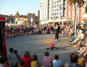 Espectaculo de magia de calle Gijon 2009